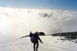 Zaczęliśmy schodzić lodowcem Hofmanna