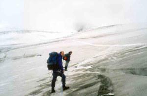 Na przełęczy Rainertörl (3421 mnpm) zadymka śnieżna...